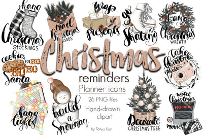 Christmas Reminders Planner Icons
