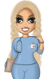 Nurse Blonde Planner Doll