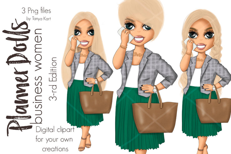 Business Woman Planner Dolls