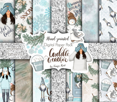 Cuddle Weather Digital Papers