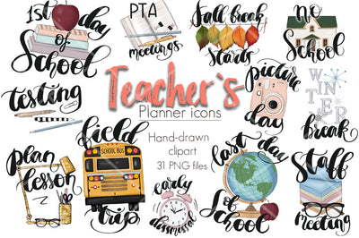 Teachers Planner Icons
