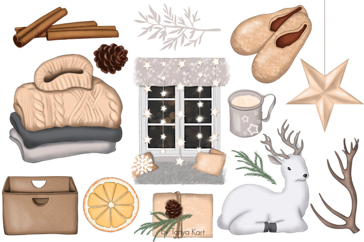 Hygge This Christmas Clipart