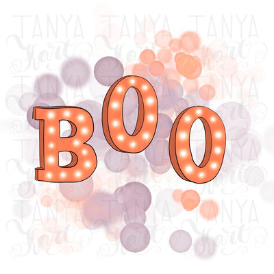 Boo Sublimation Png File