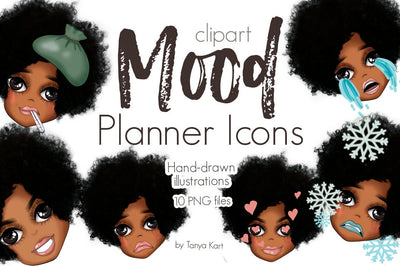 Mood Tracker Planner Girl