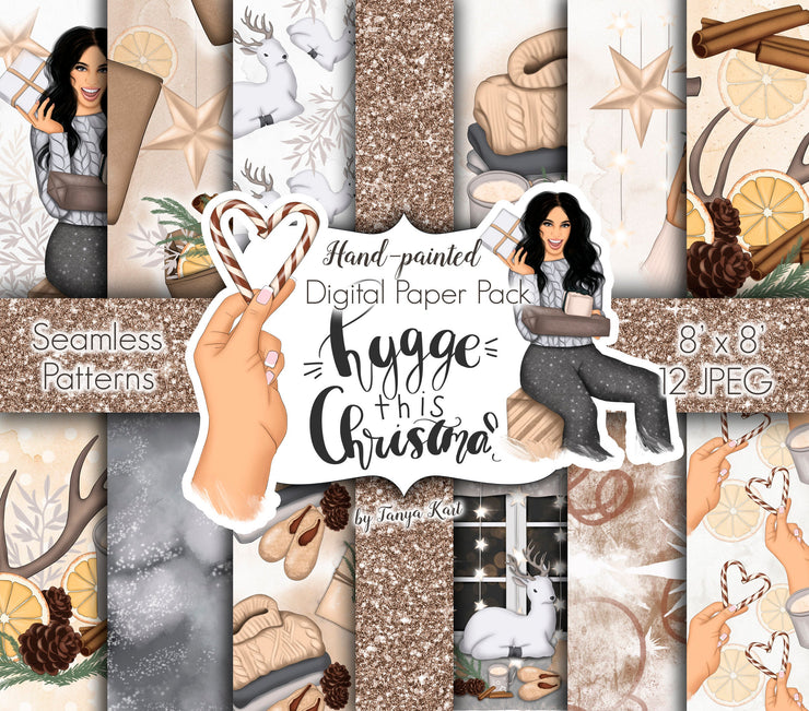 Hygge This Christmas Digital Paper