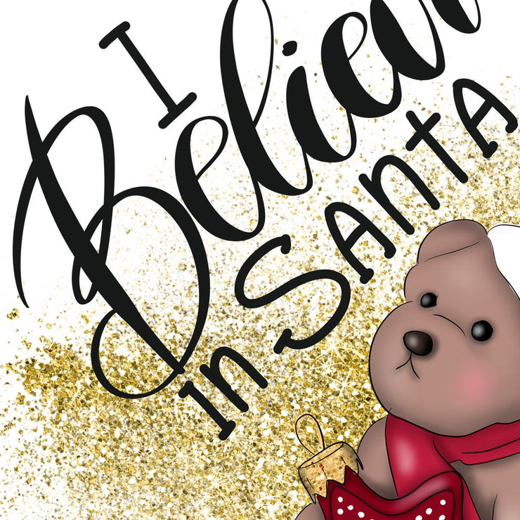 I Believe In Santa Sublimation Png