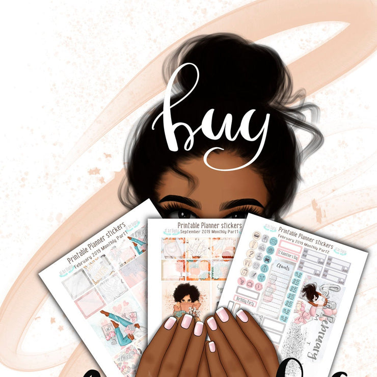 Sublimation Png Planner Stickers