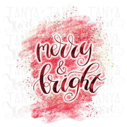 Merry And Bright Sublimation Png
