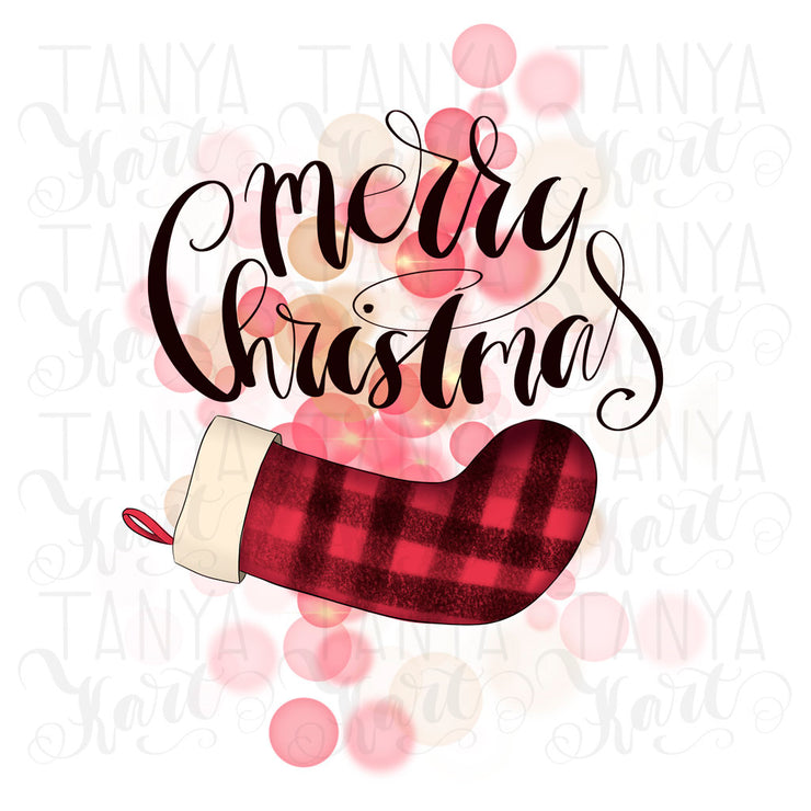 Merry Christmas Plaid Sublimation