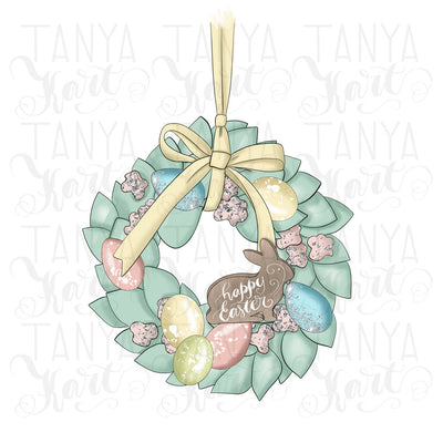 Wreath Easter Bunny Sublimation
