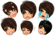Mood Planner Icons Brunette