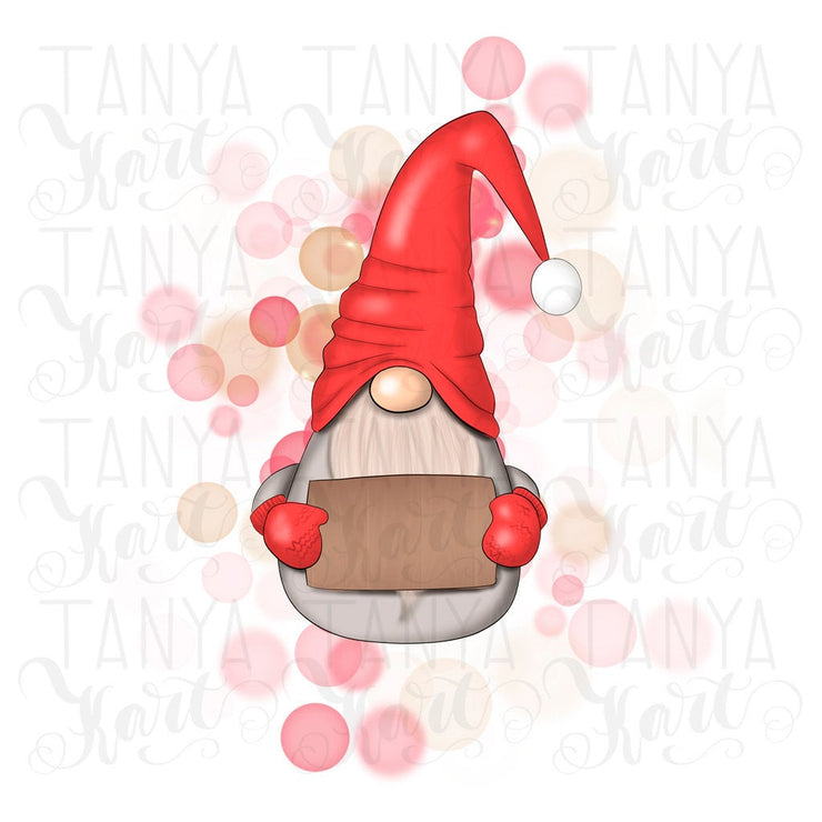 Gnome For Christmas Instant Download