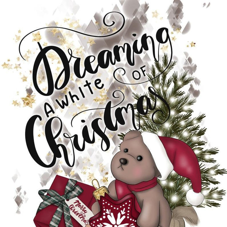 Dreaming Of White Christmas Sublimation Design Png