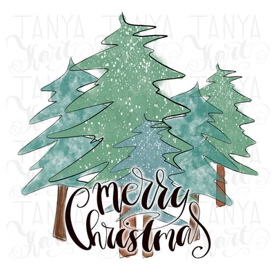 Merry Christmas Tree Diy Sublimation
