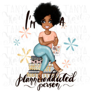 African American Girl Png For Sublimation