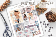 Winter Printable Stickers for Erin Condren Life Planner African American