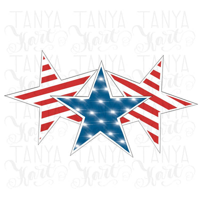 American Flag USA Stars Sublimation File