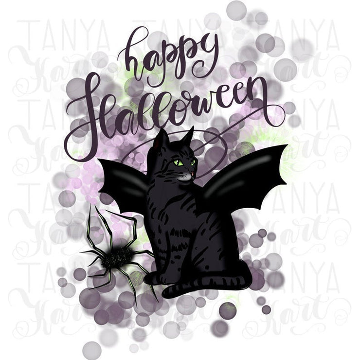 Black Cat Png Spider Art