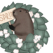 Spring Wreath Beaver Png