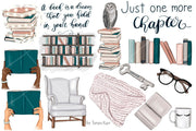 My Bookworm Life Clipart