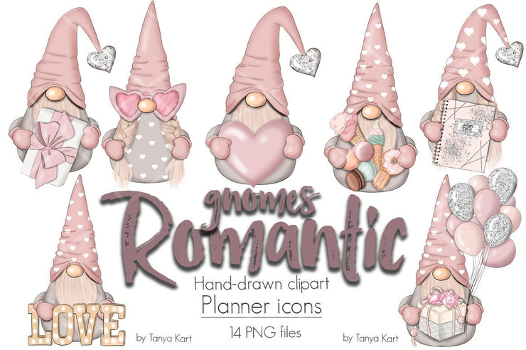 Romantic Gnomes Clipart