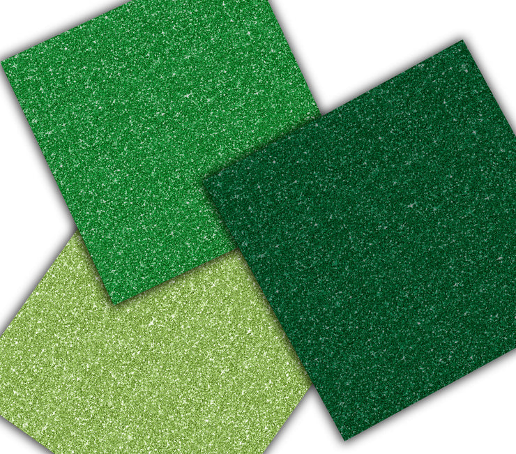 St Patricks Day Glitter Gold Papers
