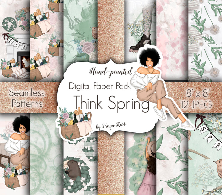 Think Spring Digital Paper