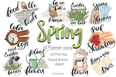 Spring Stickers Clipart