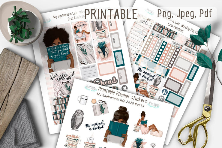 My Bookworm Life Erin Condren Weekly Printable Kit