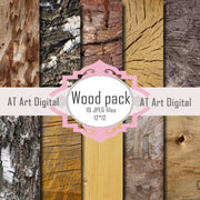 Wood Photography Digital Paper Pack