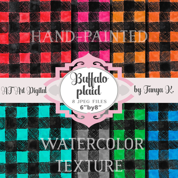 Buffalo Plaid Hand-Painted Texture