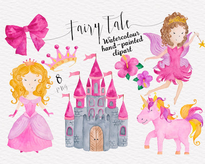 Fairytale Watercolor Clipart