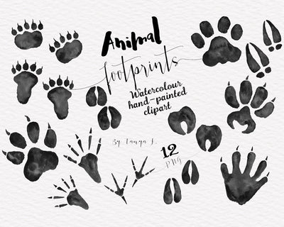 Animal Foot Prints Clipart