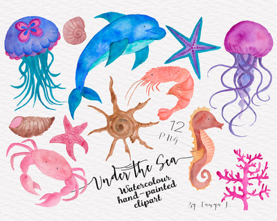 Under The Sea Nautical Clipart