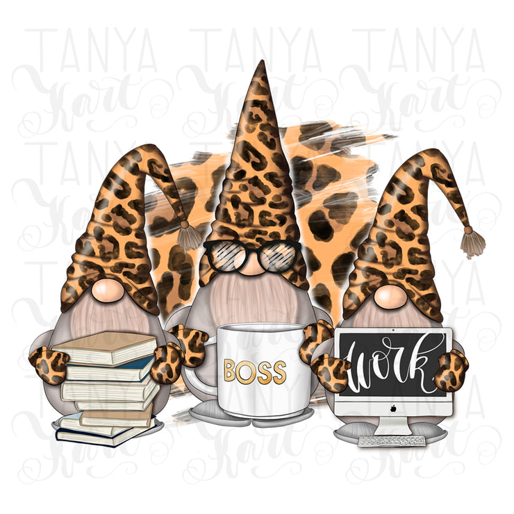 Leopard Gnomes | Png Sublimation