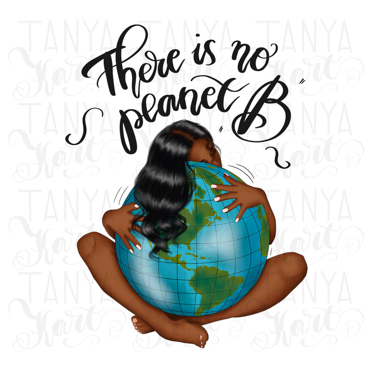 Eco Friendly Design Afro Girl Planet Png