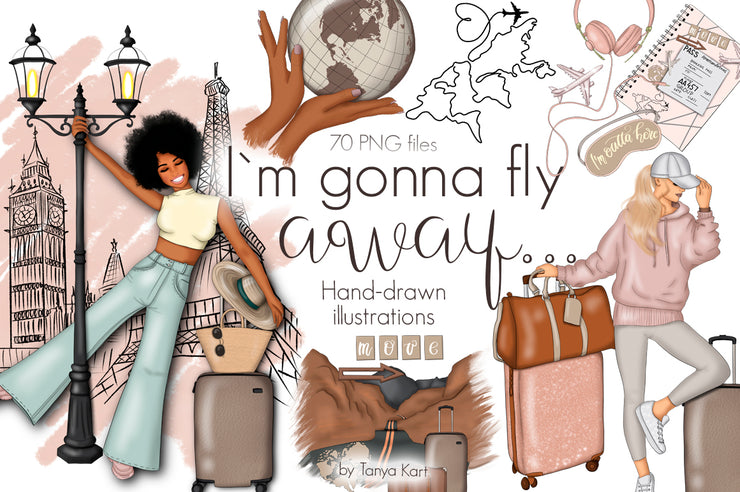 I'm Gonna Fly Away Clipart