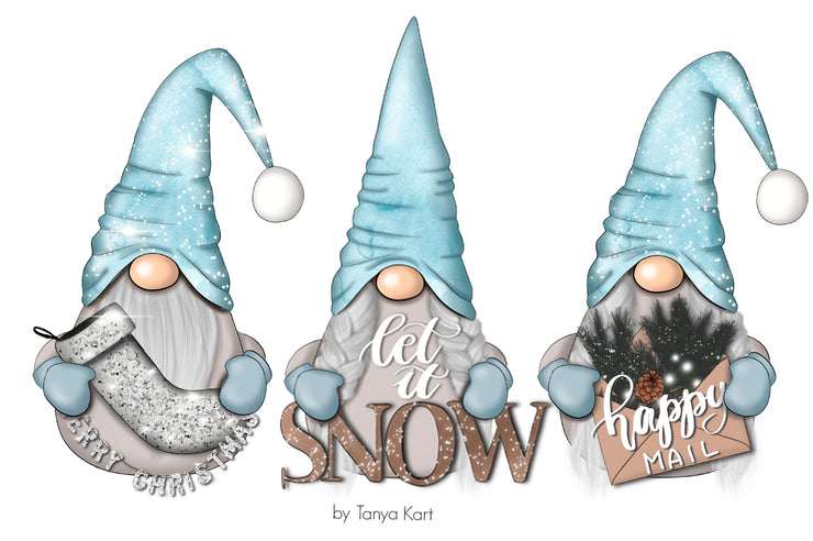 Winter Nordic Gnomes Clipart