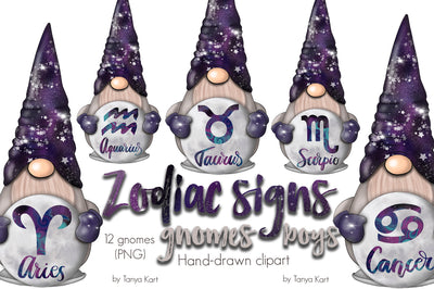 Zodiac Signs Gnomes Boys