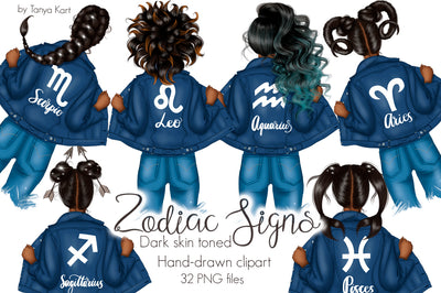 Zodiac Signs Dark Skin Toned