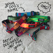 Hand-Lettered Custom Collar