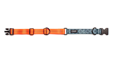 Orange Stunt PuppyID Collar - BlackID