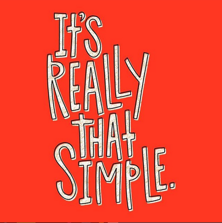 Handlettering example: It's really that simple