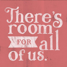 Handlettering example: There's room for all of us.