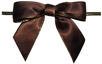 Brown Bow Twist Tie