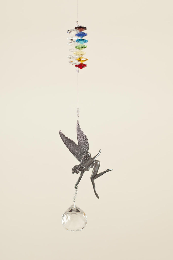 PEWTER FAIRY  <br> Crystal Sun Catcher