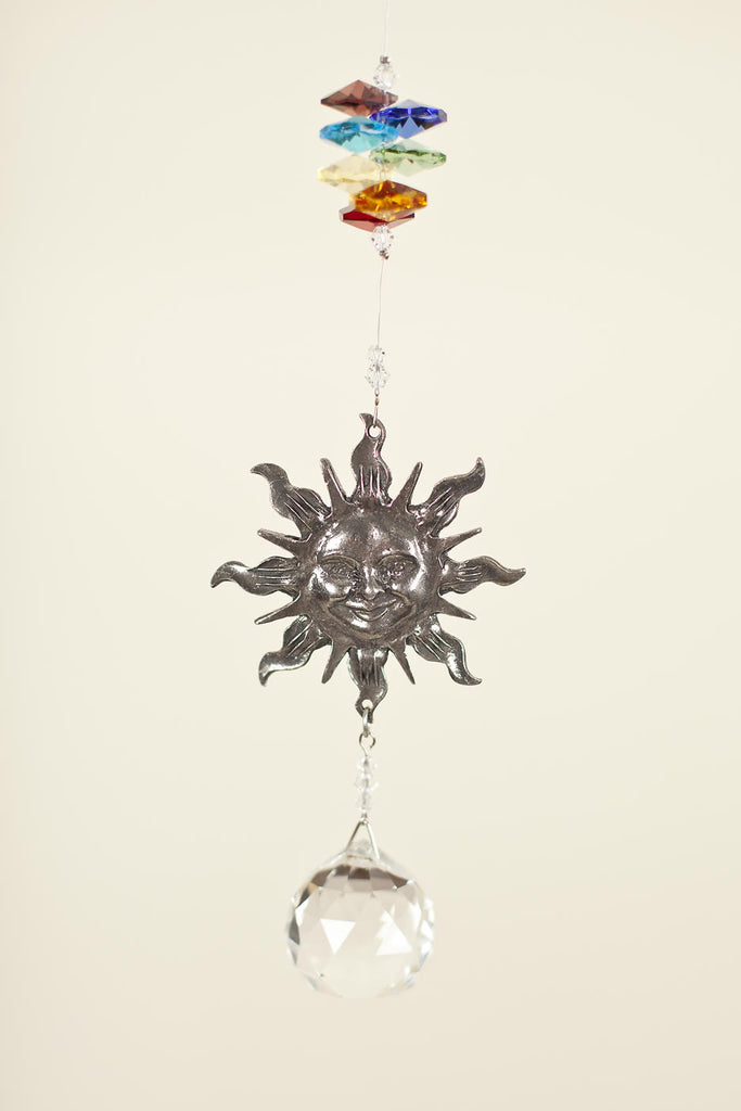 PEWTER SUN <br> Crystal Sun Catcher