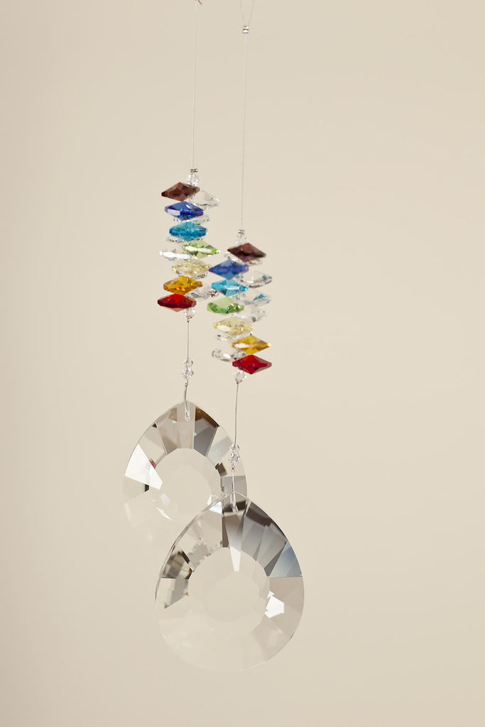 CHAKRA CRYSTAL <br>  Teardrop Shaped Sun Catcher