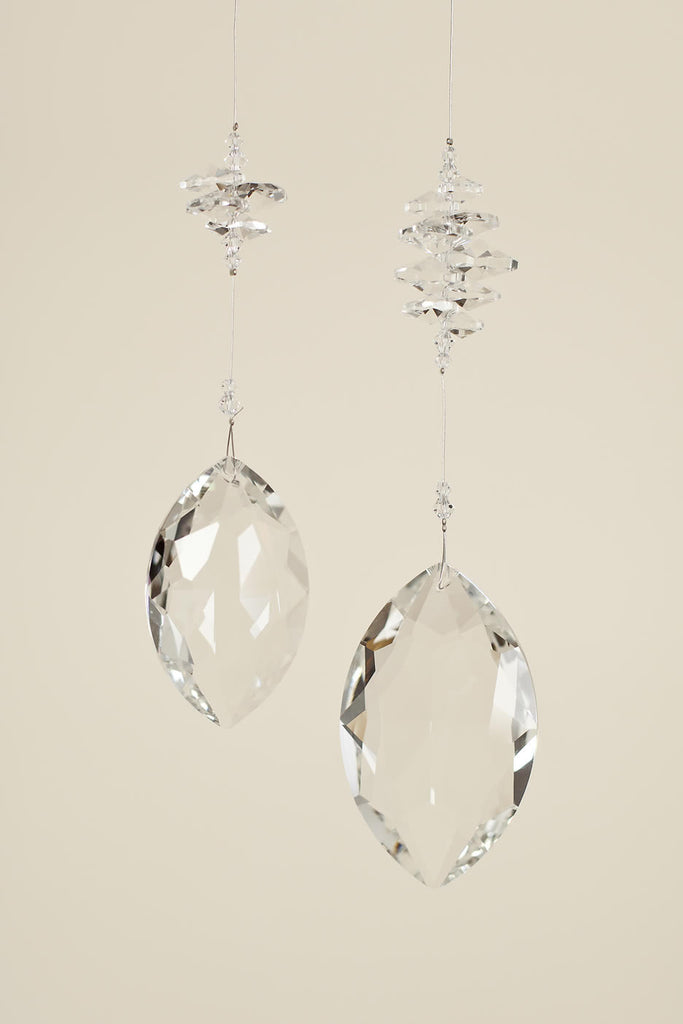 CLEAR CRYSTAL  <br>  Marquis Shaped Sun Catcher