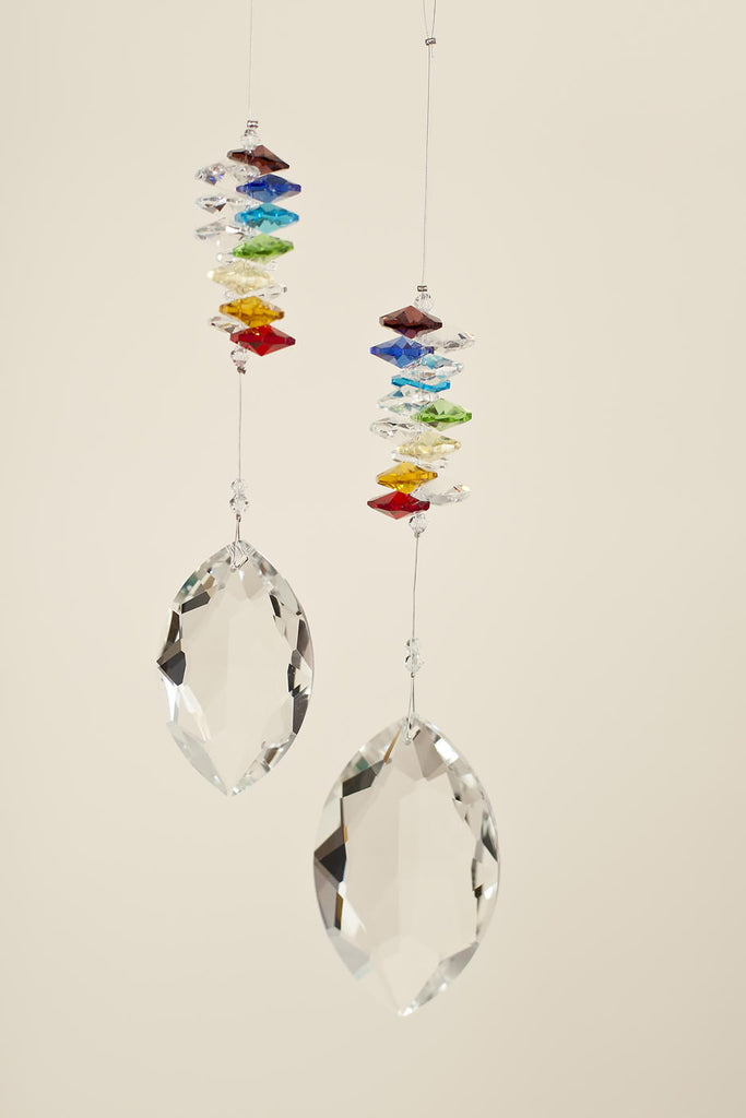 CHAKRA CRYSTAL <br>   Marquise Shaped Sun Catcher